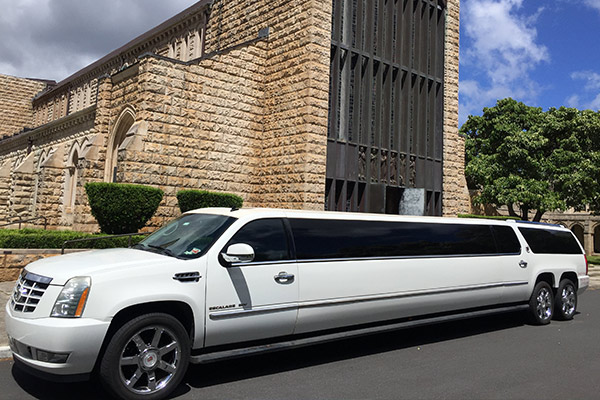 Oahu Cadillac Escalade Dual Axle Luxury Stretch Limosuine