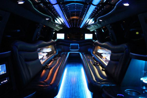 Dual Axle Cadillac Escalade Luxury Stretch Limo Interior Honolulu